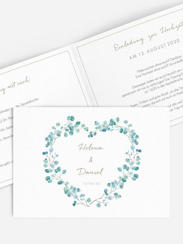 Hochzeitseinladung Green Love