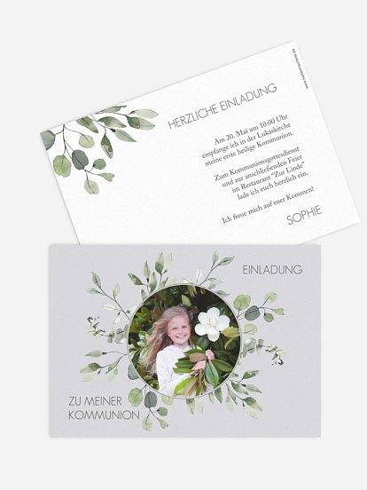 "Kommunionseinladung ""Eucalyptus Leaves"""