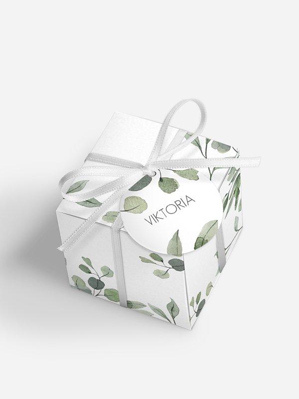 Gastgeschenkbox personalisiert Eucalyptus Leaves