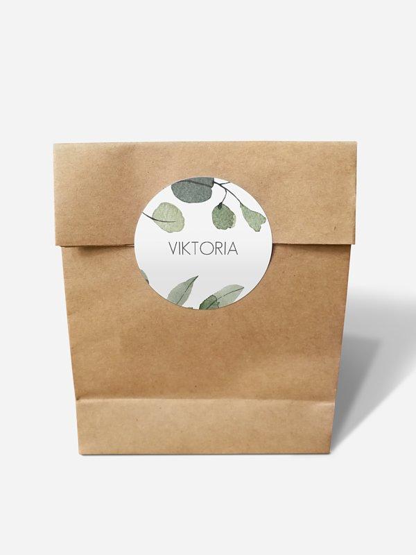 Papiertüte personalisiert Eucalyptus Leaves