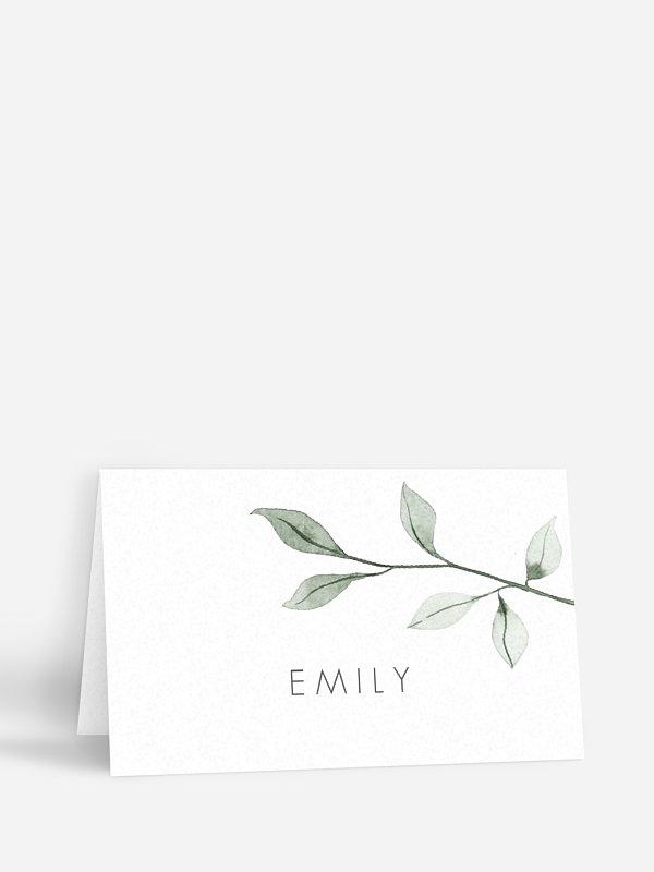 Tischkarte Hochzeit Eucalyptus Leaves