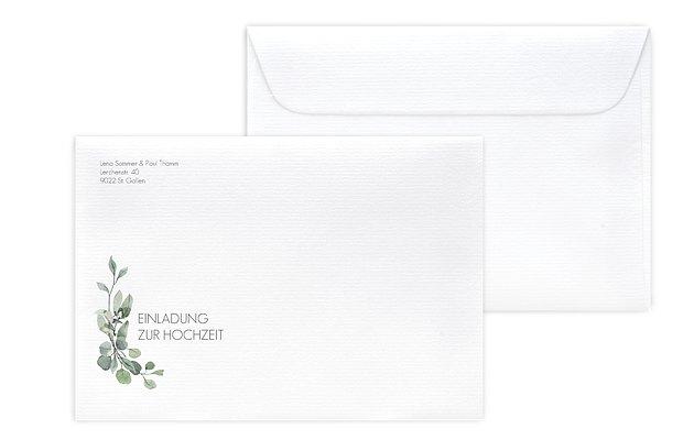 Briefumschlag mit Motiv Eucalyptus Leaves