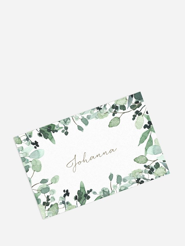 Tischkarte Geburtstag All The Greenery