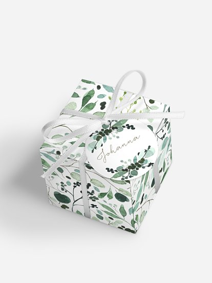 "Gastgeschenkbox personalisiert ""All The Greenery"""