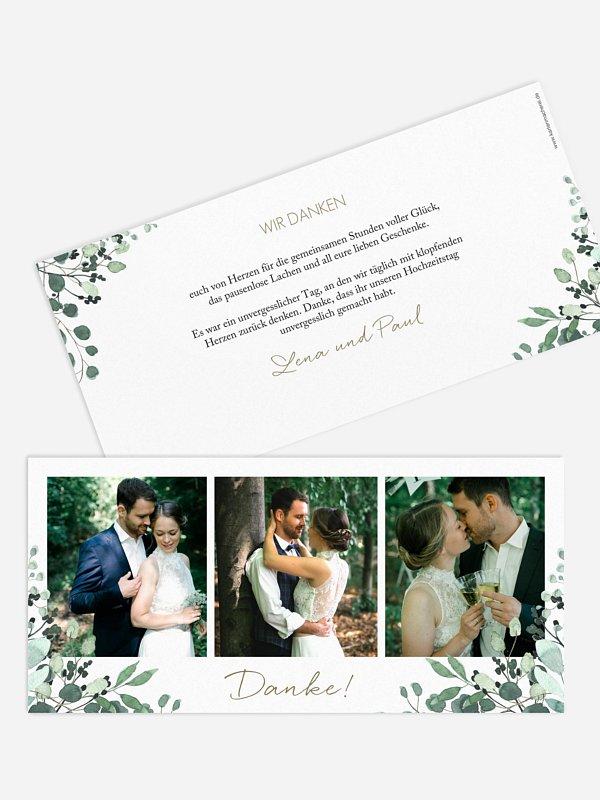 Dankeskarte Hochzeit All The Greenery