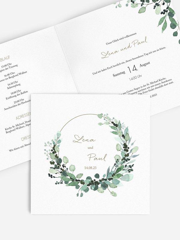 Hochzeitseinladung All The Greenery