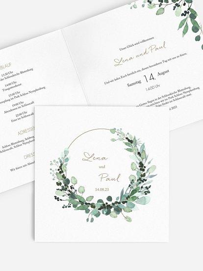 "Hochzeitseinladung ""All The Greenery"""