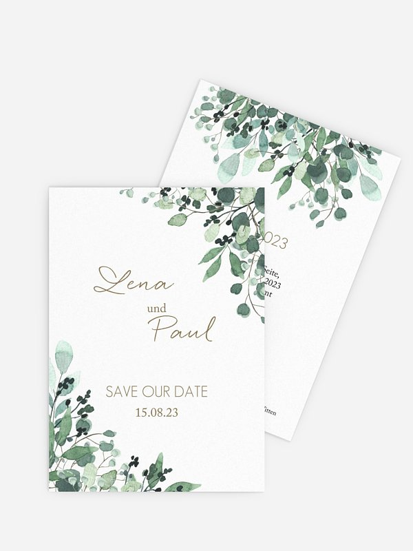 Save-the-Date Karte All The Greenery