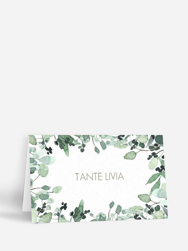Tischkarte Hochzeit All The Greenery