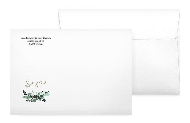 Briefumschlag mit Motiv All The Greenery