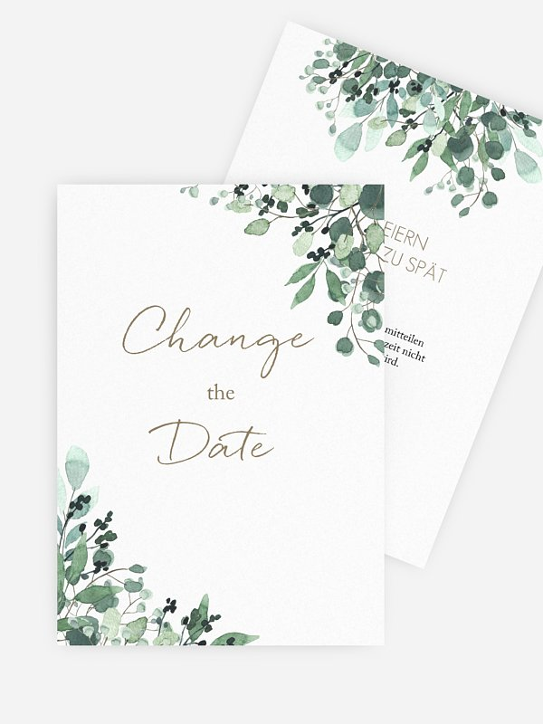 Change-the-Date Karte All The Greenery
