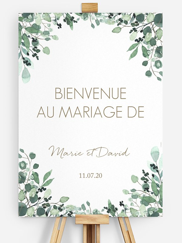 Poster bienvenue mariage All The Greenery