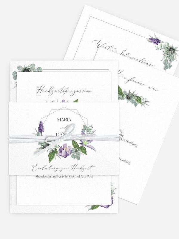 Hochzeitseinladung Botanical Romance