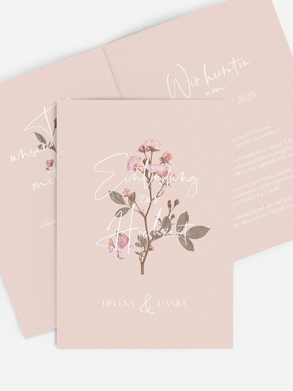 Hochzeitseinladung Little Rose