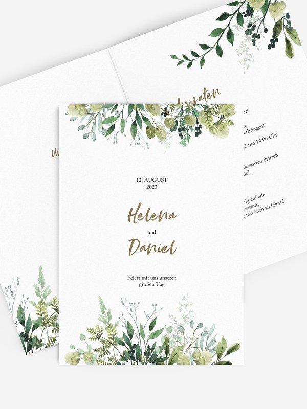 Hochzeitseinladung Green Magic