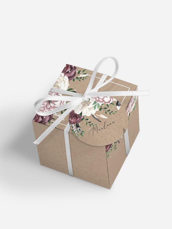 Gastgeschenkbox personalisiert Bohemian Summer