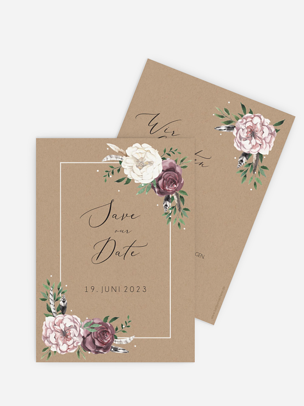 Save-the-Date Karte Bohemian Summer