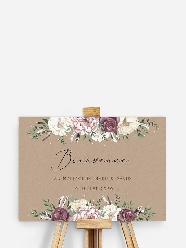 Poster bienvenue mariage Bohemian Summer