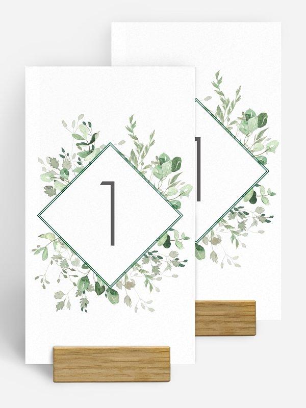 Tischnummer Gold and Green
