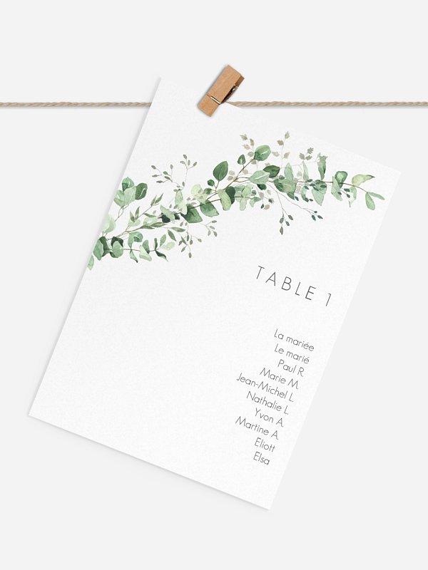 Cartons plan de table mariage Gold and Green - dorure