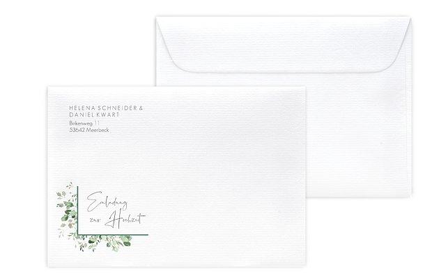 Briefumschlag mit Motiv Gold and Green