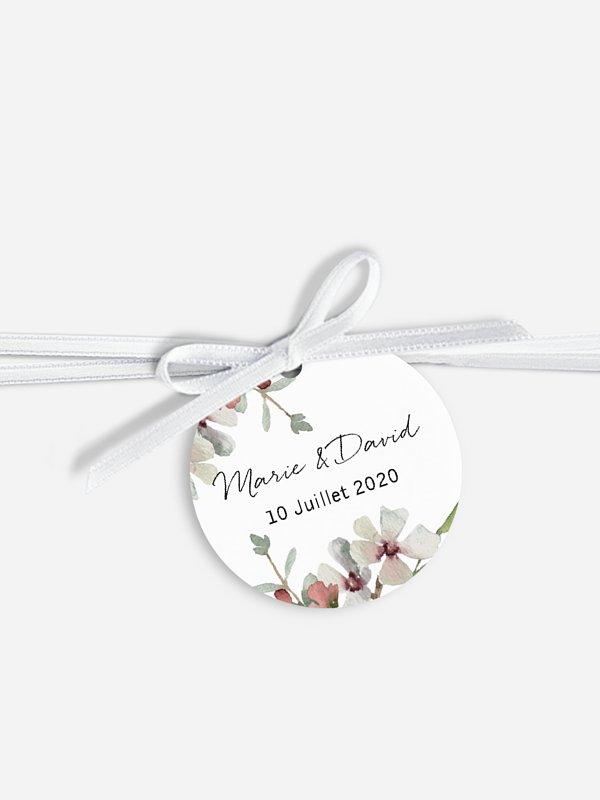Étiquette avec ruban Jardin secret