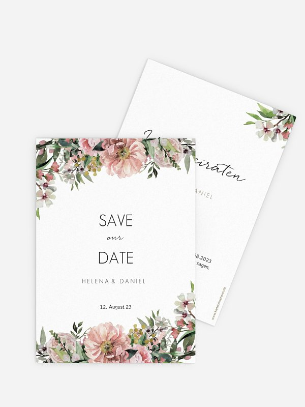 Save-the-Date Karte Secret Garden