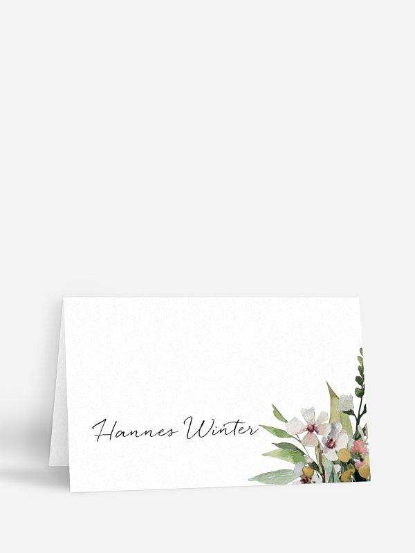 Tischkarte Hochzeit Secret Garden