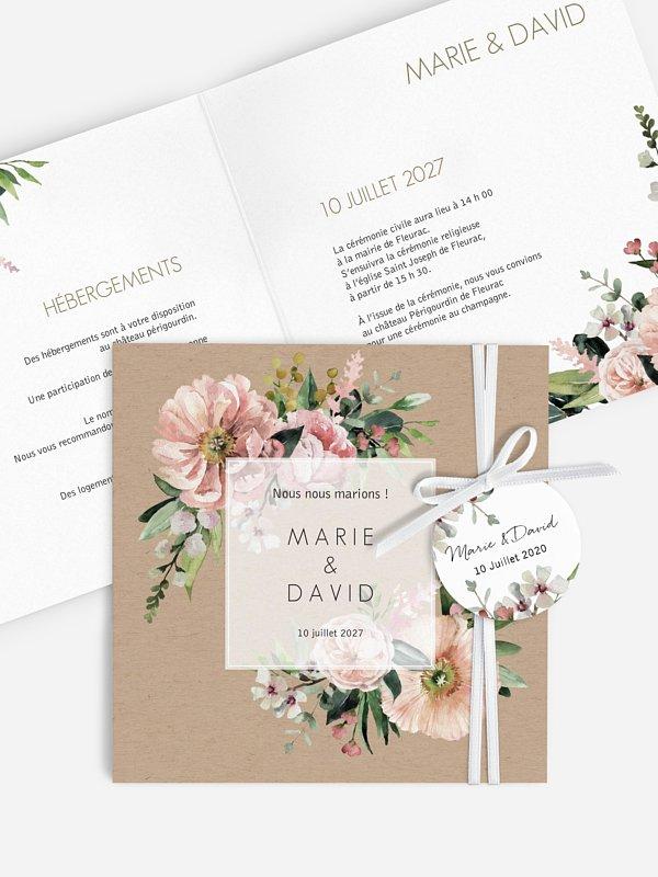 Faire-part de mariage Jardin secret
