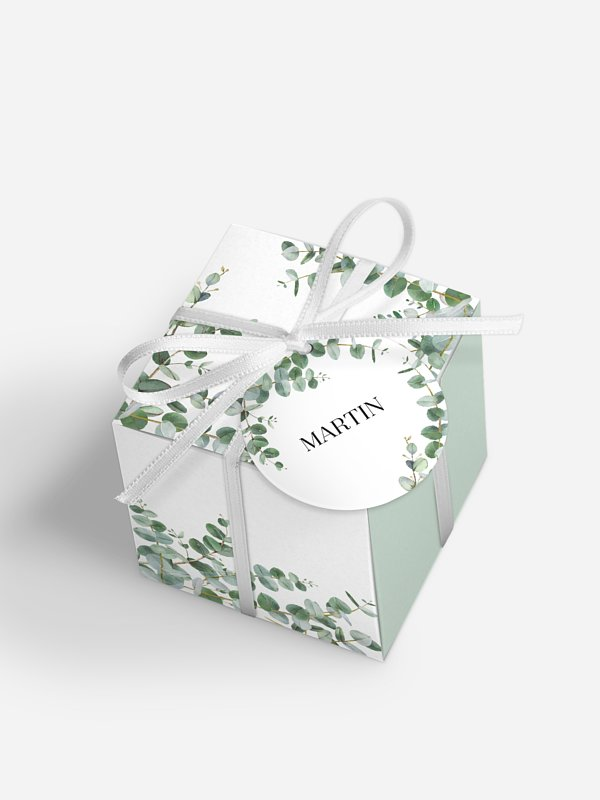 Gastgeschenkbox personalisiert Natural Greenery