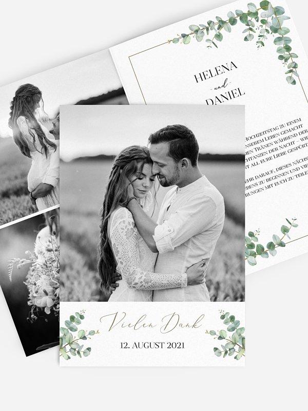 Dankeskarte Hochzeit Natural Greenery