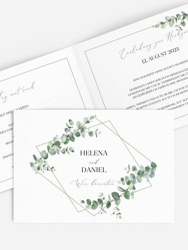 Hochzeitseinladung Natural Greenery