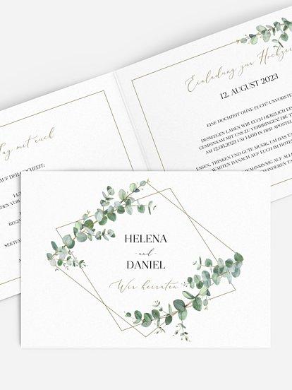 """Hochzeitseinladung """"Natural Greenery"""""""