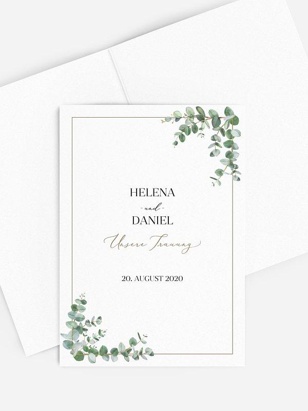Kirchenheft Hochzeit Natural Greenery