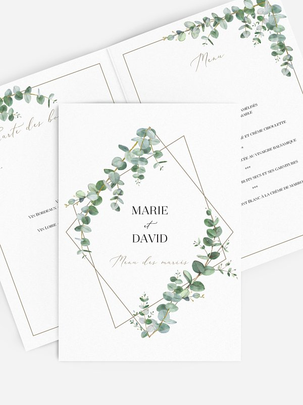 Menu mariage Natural Greenery
