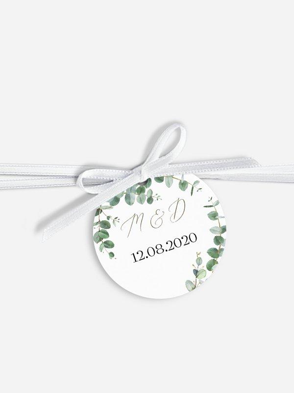 Étiquette avec ruban Natural Greenery