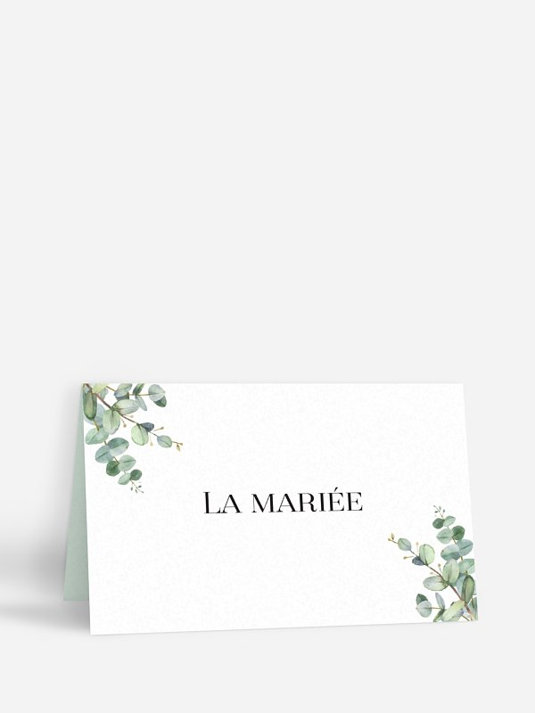 Marque-place mariage Natural Greenery