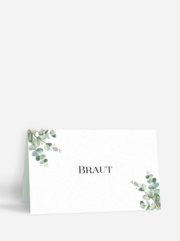 Tischkarte Hochzeit Natural Greenery