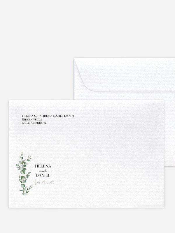 Briefumschlag mit Motiv Natural Greenery
