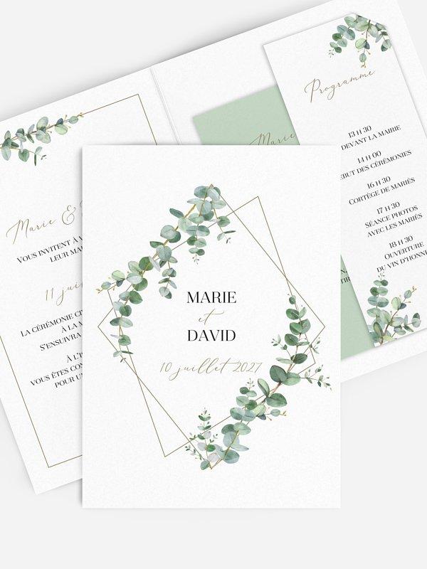 Faire-part de mariage Natural Greenery