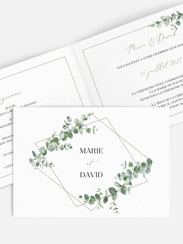 Faire-part de mariage Natural Greenery