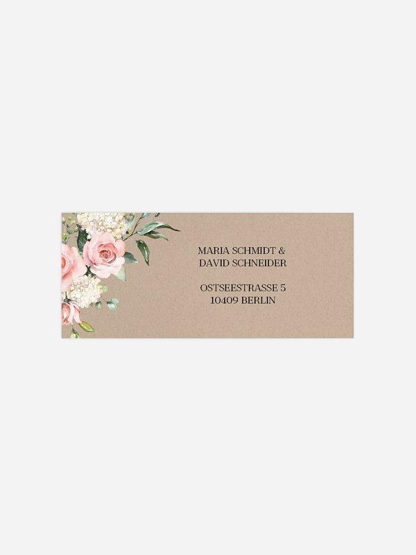 Absenderaufkleber Hochzeit Soft Florals