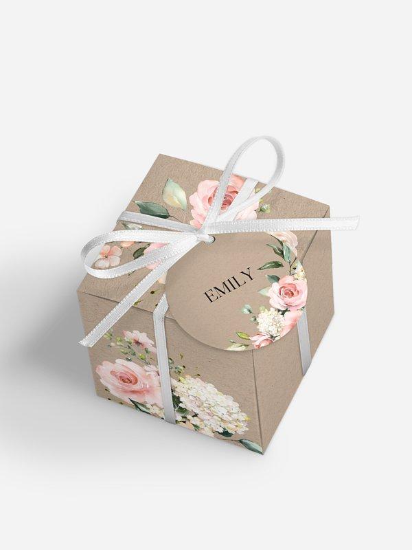 Gastgeschenkbox personalisiert Soft Florals