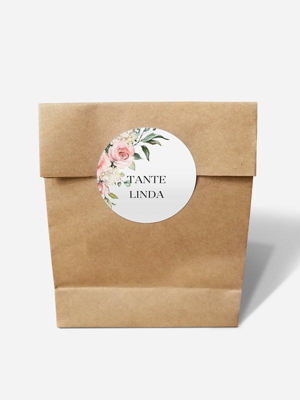 Papiertüte personalisiert Soft Florals