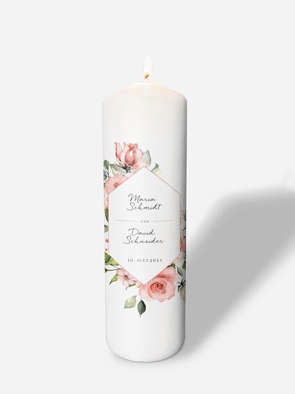 Hochzeitskerze Soft Florals