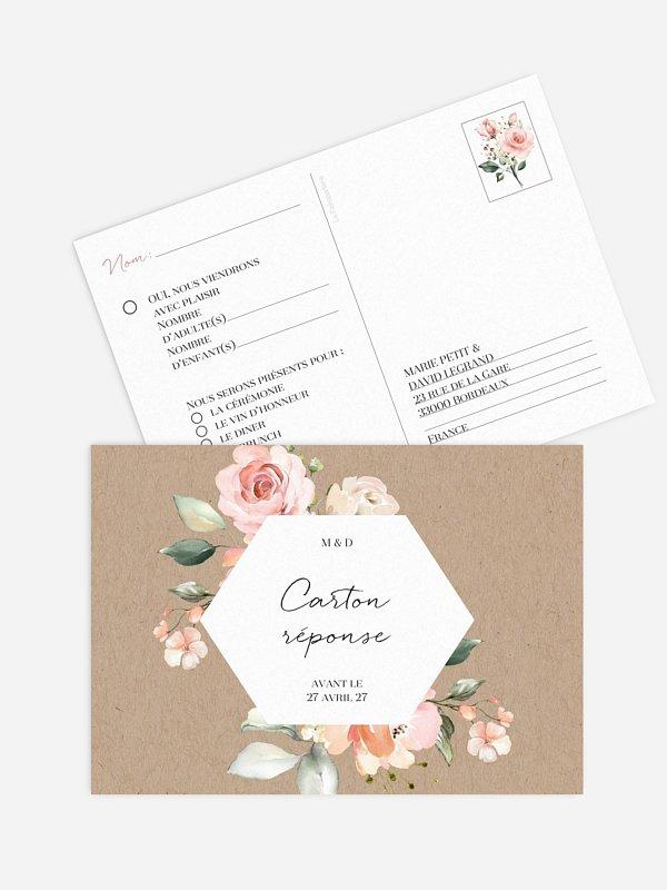 Carton réponse Soft Florals