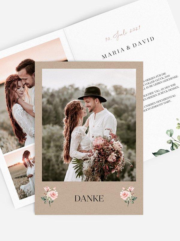 Dankeskarte Hochzeit Soft Florals