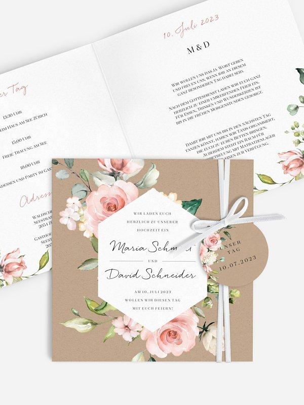 Hochzeitseinladung Soft Florals