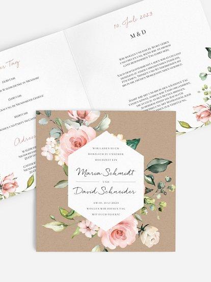 """Hochzeitseinladung """"Soft Florals"""""""