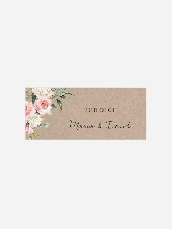 Geschenkaufkleber Hochzeit Soft Florals